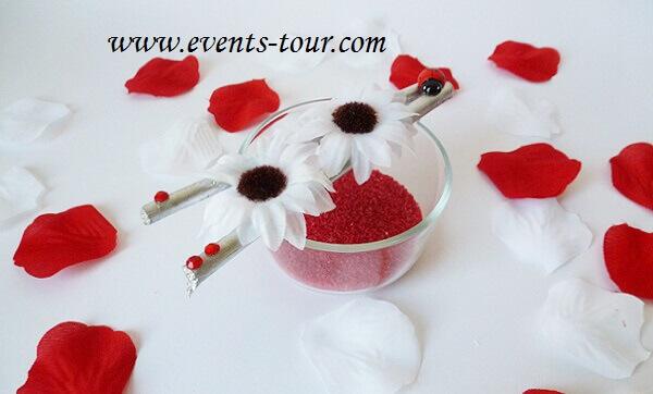 Decoration de table mariage blanc 1