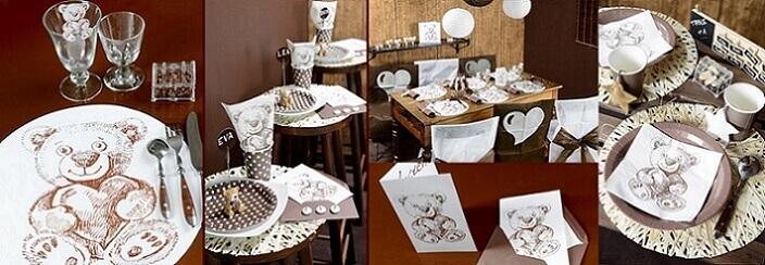 Decoration de table ours