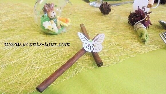 Decoration de table papillon