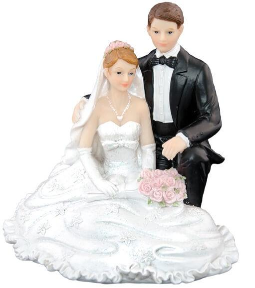 Figurine mariage agenouilles