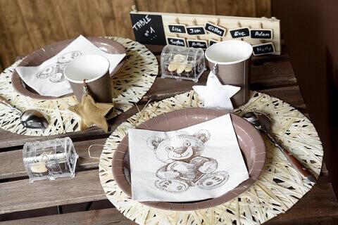 10 marque place verre ours prix discount - Pliage serviette ourson ...
