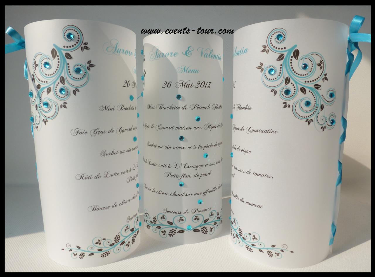 Menu photophore flowers x1 for Couleur avec bleu marine 15 menu photophore champetre x1