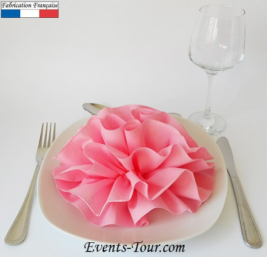 Pliage de serviette pivoine x1 ref 10050 - Pliage serviette de table ...