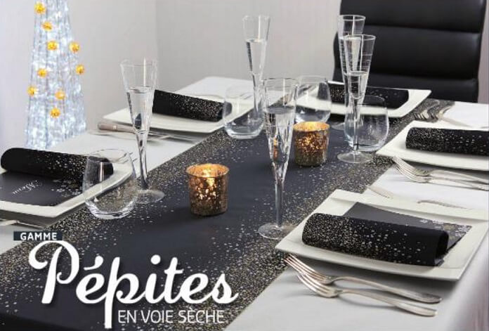 Serviette de table noel pepite