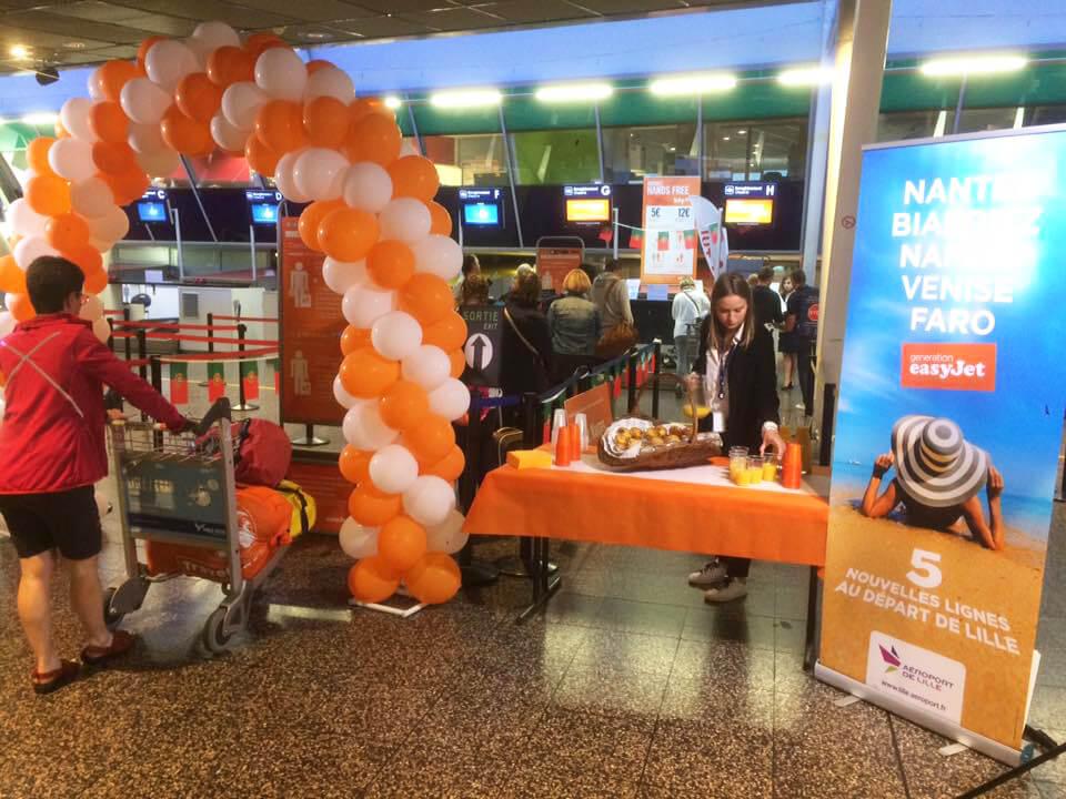 """Aéroport de Lille """"EasyJet"""" : Inauguration nouveaux vols."""