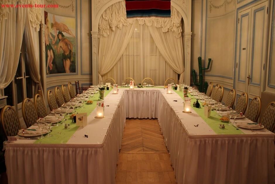 Décoration de salle sur le thème du Mexique.