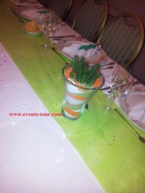 Décoration de table sur le thème du Mexique.
