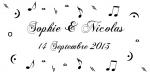 Étiquette à dragées musique: So music (x10) REF/10115