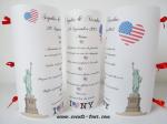 Menu photophore New York (x1) REF/10312