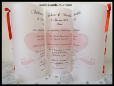 Menu photophore mariage: Love for life (x1) REF/10304