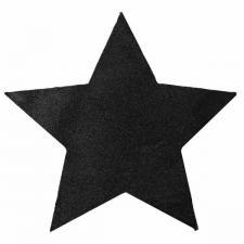 Décoration étoile noire pailletée 15cm (x2) REF/3904