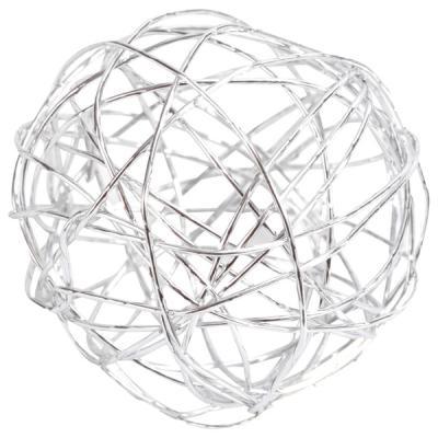 Boule métallique argent (x7) REF/5328