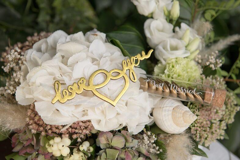 Accessoire autocollant mariage doree