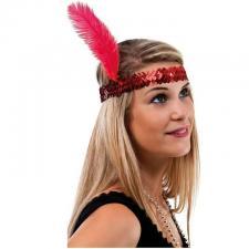 Accessoire de déguisement avec bandeau rouge Charleston (x1) REF/20142