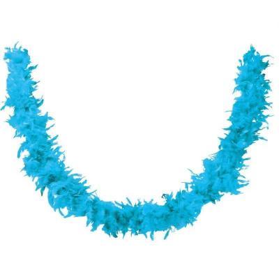 Accessoire de déguisement avec Boa bleu turquoise en plumes de 1.80m (x1) REF/21610