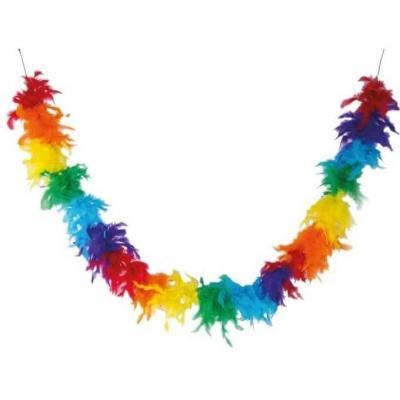 Accessoire de déguisement avec Boa multicolore en plumes de 1.80m (x1) REF/40060
