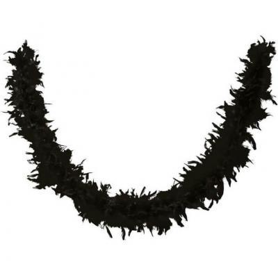 Accessoire de déguisement avec Boa noir en plumes de 1.80m (x1) REF/21601