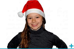 Accessoire de deguisement avec bonnet de noel enfant