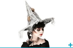 Accessoire de deguisement avec chapeau et casquette fete halloween