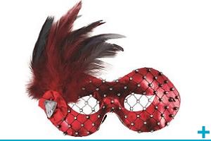Accessoire de deguisement avec masque et loup pour adulte