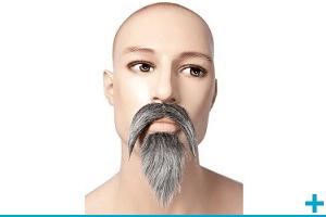 Accessoire de deguisement avec moustache et barbe