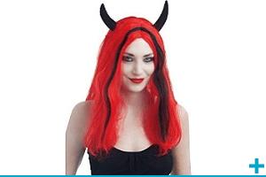 Accessoire de deguisement avec perruque adulte fete halloween
