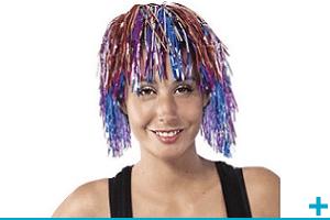 Accessoire de deguisement avec perruque adulte