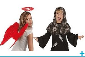 Accessoire de deguisement carnaval avec theme ange et demon