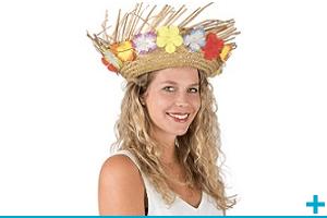 Accessoire de deguisement carnaval avec theme hawai et ile tropicale