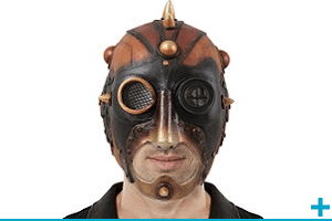 Accessoire de deguisement carnaval avec theme punk gangster et prisonnier