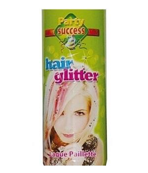 Aerosol laque cheveux a paillettes multicolore