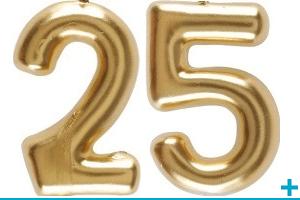 Anniversaire avec classement par age 25 ans