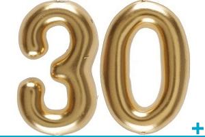 Anniversaire avec classement par age 30 ans