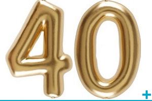 Anniversaire avec classement par age 40 ans