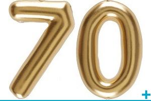 Anniversaire avec classement par age 70 ans
