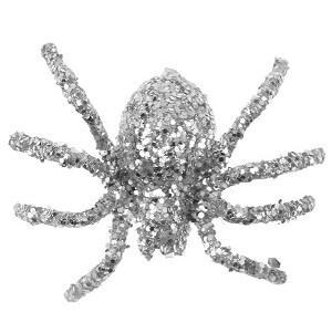 Araignée pailletée argent (x6) REF/4152