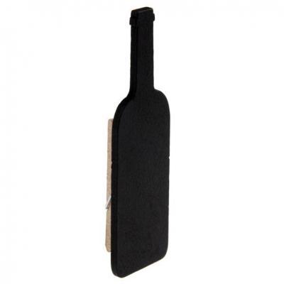 Ardoise noire bouteille sur pince (x6) REF/5360