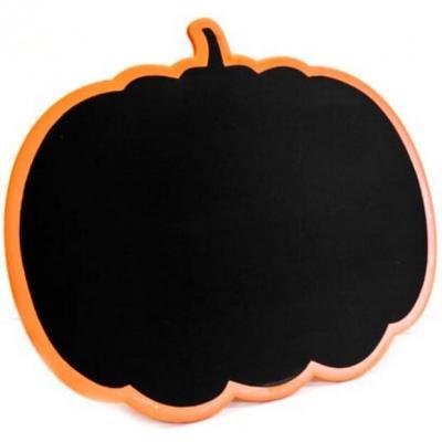 Ardoise citrouille noir et orange (x1) REF/DEC620
