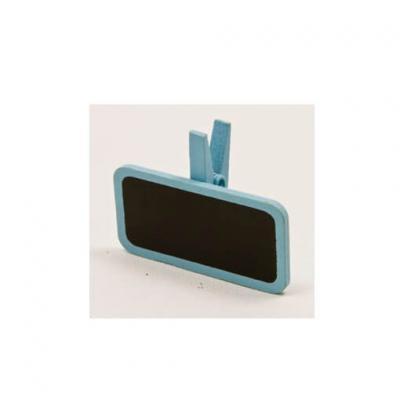 Ardoise sur pince bleu ciel (x6) REF/MT951
