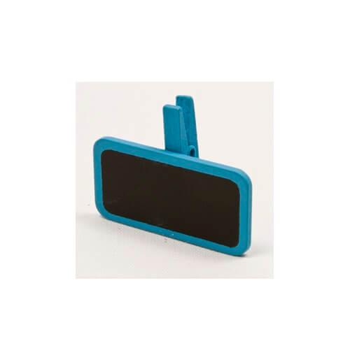 Ardoise sur pince bleu turquoise