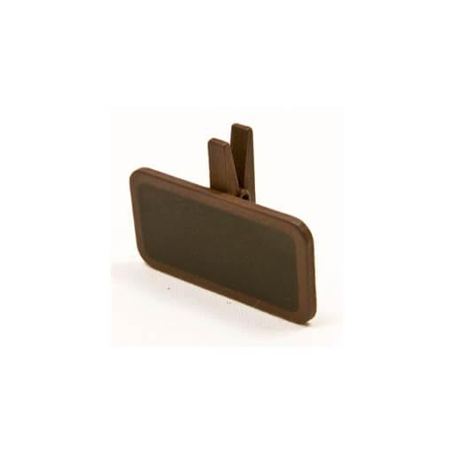 Ardoise sur pince marron