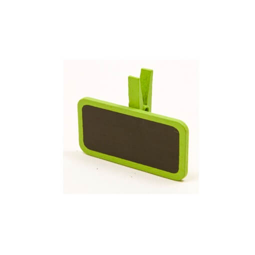Ardoise sur pince vert menthe