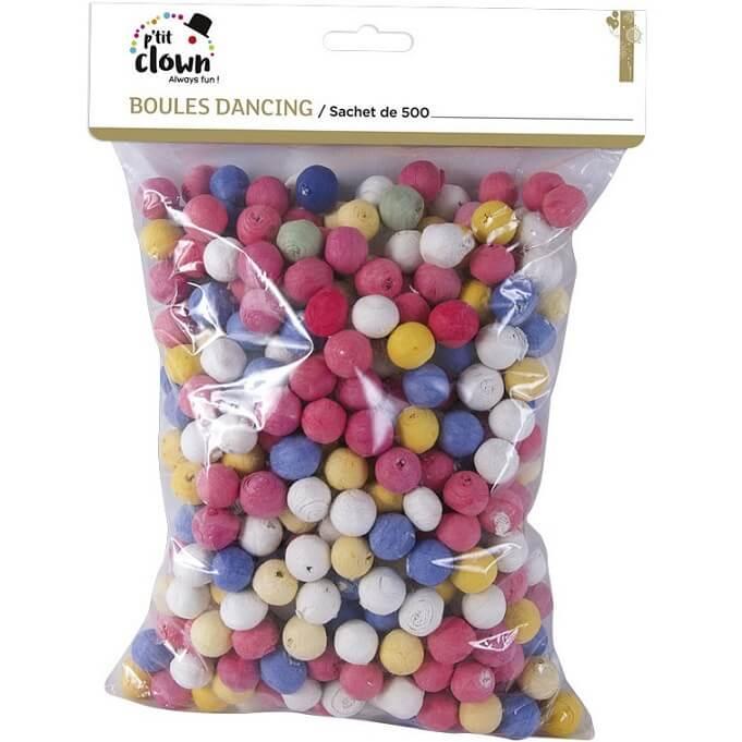 Article de fete avec boules multicolores pour sarbacane