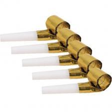 Sifflet sans-gêne or métallique pour votre fête (x6) REF/32181