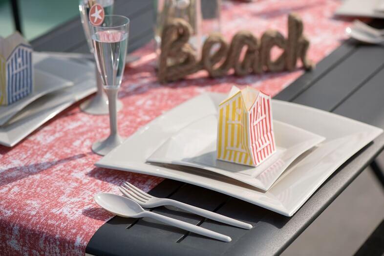 Assiette a dessert plastique blanche