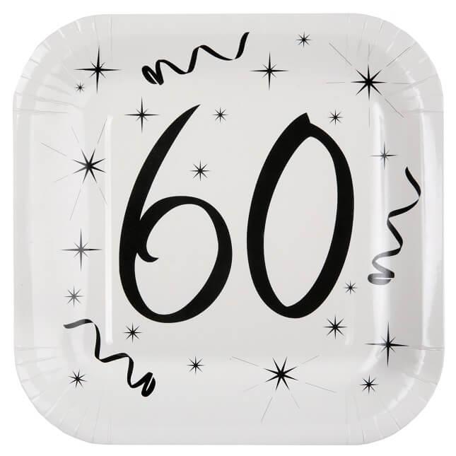 Assiette anniversaire 60ans