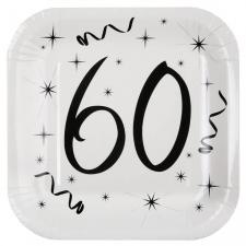 Assiette blanche anniversaire 60ans (x10) REF/5240