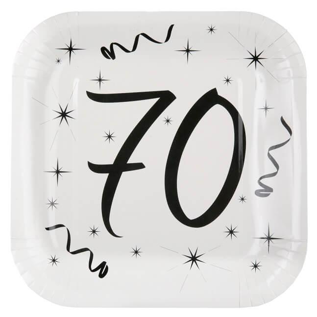 Assiette anniversaire 70ans