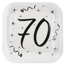 Assiette blanche anniversaire 70ans (x10) REF/5240