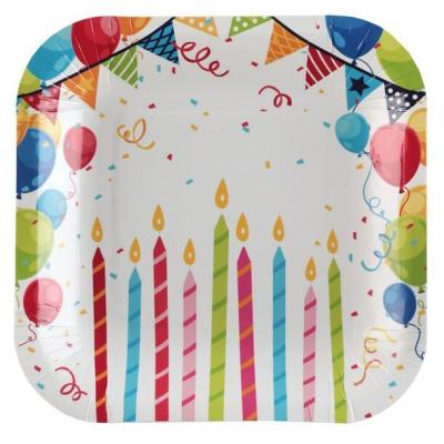 Petite assiette anniversaire Arlequin 18cm (x10) REF/6188